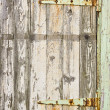 Royalty-Free Stock Photo: An old door with rusty hinges