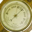 Stock Photo: Antique banjo barometer