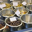 Bowls of olives for sale in a market — Stock Photo #3054294
