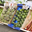 Fresh fruit and vegetables for sale - Stock Photo