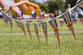 A string of Union Jack Bunting — Stock Photo