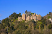 A view looking up towards Dunster Castle — Stock Photo