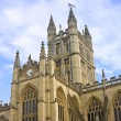 A view of the Abbey in Bath Somerset UK - Stock Photo