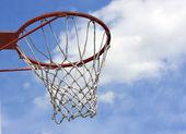 オレンジのバスケット ボール フープ — ストック写真