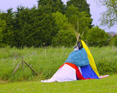 A teepee made to use as a den — Stock Photo