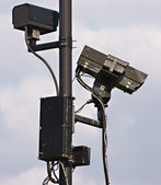 CCTV cameras watching over the community — Stock Photo