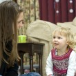 Stock Photo: A young girl at storytime