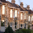 A terrace of typically British Victorian houses — Stock Photo #3747207