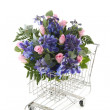 Blue and pink bouquet — Stock Photo