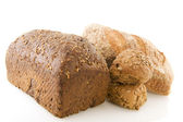 Different healthy brown bread — Stock Photo