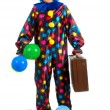 Stock Photo: Travelling clown