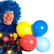 Clown with balloons — Stock Photo