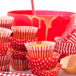 Royalty-Free Stock Photo: Baking red cup cakes
