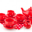 Red crockery — Stock Photo