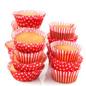 Baked many cup cakes — Stock Photo