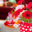 Flowers in interior — Stock Photo