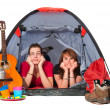 Couple in tent — Stock Photo #2848142