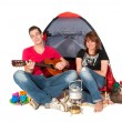 Couple in tent — Stock Photo #2848177