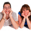 Young smiling couple — Stock Photo #2848904