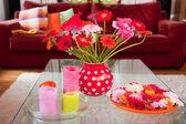 Flowers in interior — Stock Photo