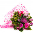 Luxury bouquet of pink flowers — Stok fotoğraf