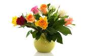 Bouquet colorful roses — Stock Photo