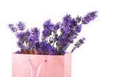 Lavender in paper bag — Stock Photo
