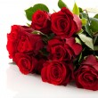 Stock Photo: Bouquet red roses