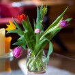Colorful tulips in interieur — Stock Photo #2880944