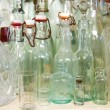 Old antique glass bottles — Stock Photo