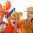 Stock Photo: Dutch soccer fans