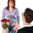 Stock Photo: Will you marry me?