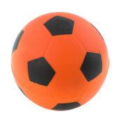 Orange Dutch soccer ball — Stock Photo