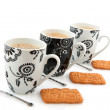 Stock Photo: Black and white coffee mugs