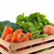 Crate with vegetables — Stockfoto