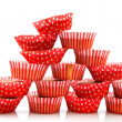 Many home made cup cakes - Stock Photo