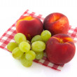 Peaches and grapes — Stock Photo