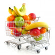 Shopping cart with fruit — Stock Photo #2937913