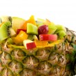Pineapple filled ith fruit — Stock Photo