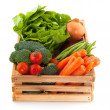 Crate with vegetables — Stock Photo