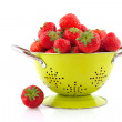 Stock Photo: Colander with strawberries