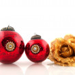 Antique christmas balls — Stock Photo