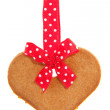 Baked gingerbread heart — Stock Photo