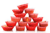 Many home made cup cakes — Stock Photo