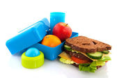 Healthy lunch box — Stock Photo