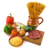 Whole meal spaghetti — Stock Photo
