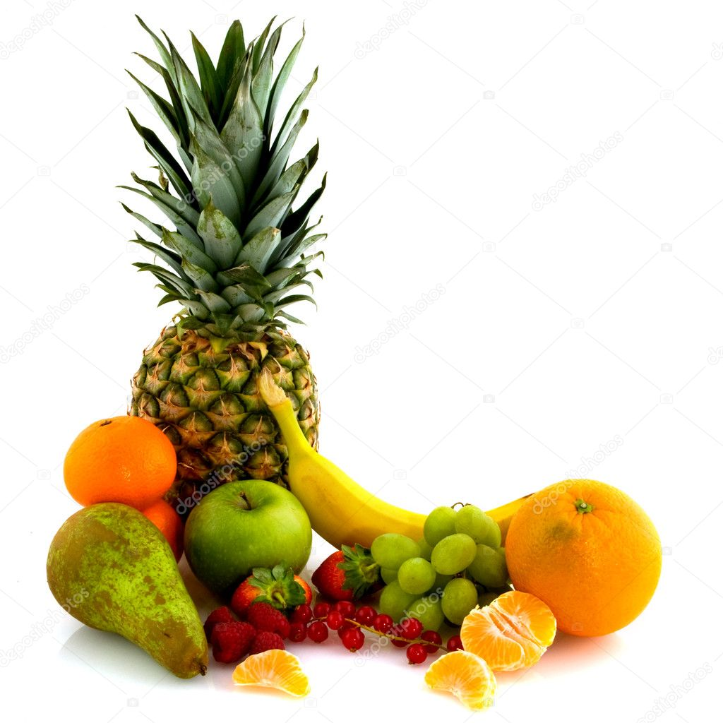 Arrangement of fresh ripe juicy summer fruit — Stock Photo #2934409