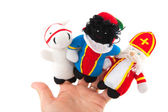 Sinterklaas finger puppets — Stock Photo