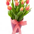 Tulip flowers in vase — Stock Photo #3018963