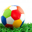 Colorful leather ball — Stock Photo